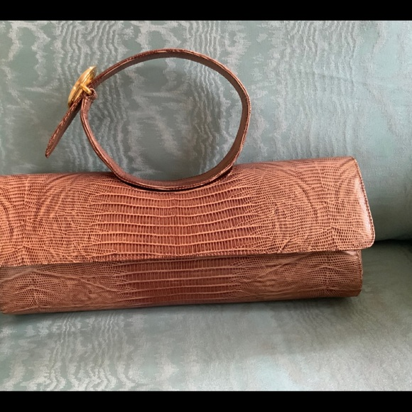 Rodeo Brown Leather clutch